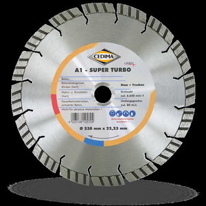 A1 Super Turbo Laser dimanta disks; 350/25,4 mm, Cedima