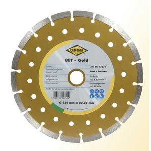 Universalus diskas 230x2,4x10mm BETON GOLD, Cedima