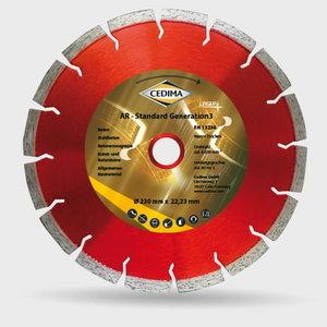 AR-Std Gen 3 dimanta disks betonam, 400 mm 25,4/20 3,6x10x38, Cedima