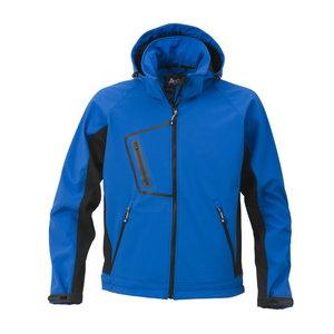 Softshell jakk kapuutsiga 1444 sinine, 3XL, Acode