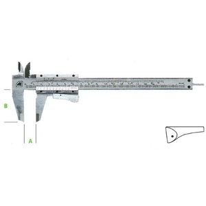 työntömitta 0-155 mm lukittava, Metrica