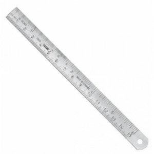 Nerūsējoša tērauda lineāls 300mm x18x0,5mm B DIN ISO 2768, Vögel