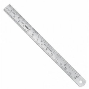 Stainless Steel rule 500mm x18x0,5mm B DIN ISO 2768, Vögel