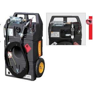 Mobil fuel tank 95l wheels, hand pump, Cemo
