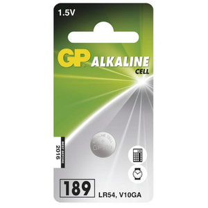 Battery 189/LR54, 1.5V, Alkaline, 1 pcs., GP