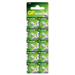 Battery 192/LR41, 1.5V, Alkaline, 10 pcs., GP