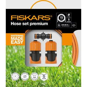 "Žarnos komplektas ""Premium Q4"", 9mm 3/8"", 15 m, Fiskars"