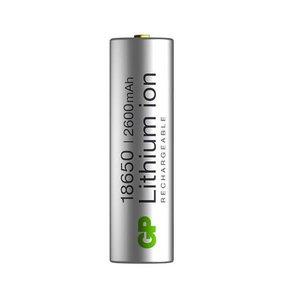 Battery 18650, 3,7V, 2600mAh, Li-Ion, 1 pcs., GP