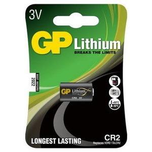 Baterijos CR2, 3V, lithium, 1 vnt., Gp