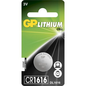 Baterijas CR1616, 3V, lithium, 1 gab., Gp