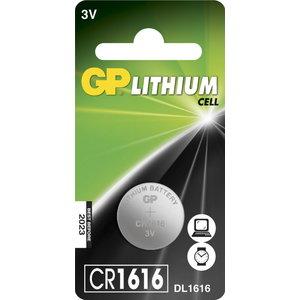 Battery CR1616, 3V, lithium, 1 pcs., GP