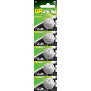 Patarei CR2430, 3V, Liitium, 5 tk., GP
