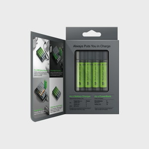 Charger/PowerBank X411+4 pcs AA 2600 mAh NiMH battery, GP