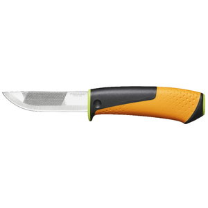 Heavy duty knife with sharpener, Fiskars