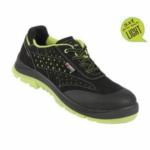 Safety shoes Capua 02 Touring, black/yellow, S1 ESD SRC 47, Sixton Peak