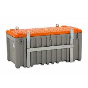 Įrankių dėžė 750L pila/oranžinė, skirta naudotis kranu, Cemo