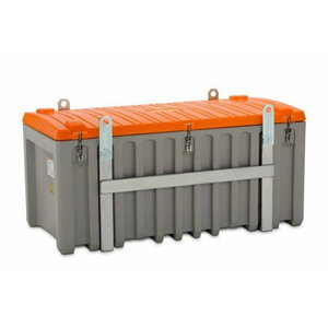 Tool box 750L grey/orange, for use with cranes, Cemo
