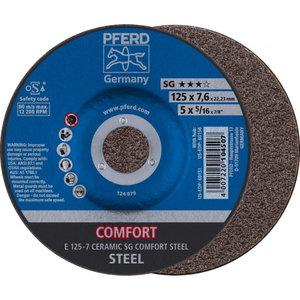 Slīpdisks 125x7mm CERAMIC SG COMFORT STEEL E, Pferd