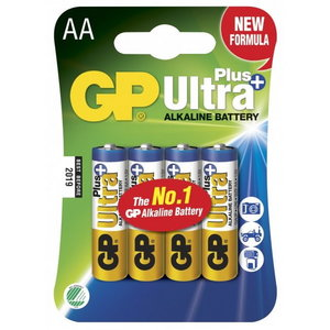 Battery AA/LR6, 1.5V, Ultra Plus Alkaline, 4 pcs., GP