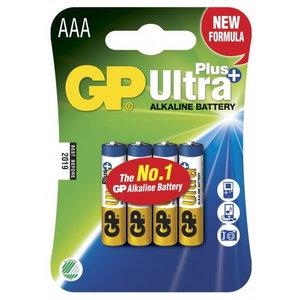 Battery AAA/LR03, 1.5V, Ultra Plus Alkaline, 4 pcs., GP
