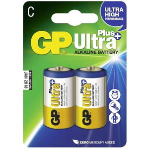 Battery C/LR14, 1.5V, Ultra Plus Alkaline, 2 pcs., GP