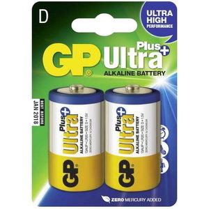 Battery D/LR20, 1.5V, Ultra Plus Alkaline, 2 pcs., GP