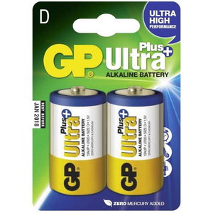 Battery D/LR20, 1.5V, Ultra Plus Alkaline, 2 pcs., GP