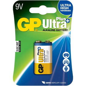 Battery 6LR61, 9V, Ultra Plus Alkaline, 1 pcs., GP