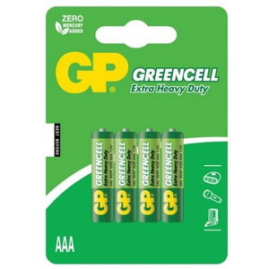 Patarei AAA/LR03, 1.5V, Greencell, 4 tk., GP