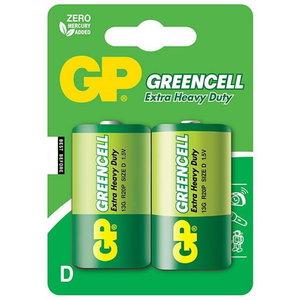 Patarei D/LR20, 1.5V, Greencell, 2 tk., GP