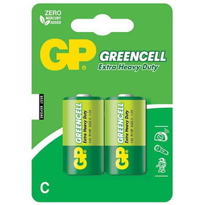Patarei C/LR14, 1.5V, Greencell, 2 tk., GP
