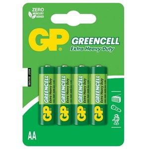 Battery AA/LR6, 1.5V, Greencell, 4 pcs., GP