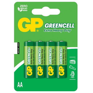 Battery AA/LR6, 1.5V, Greencell, 4 pcs., GP