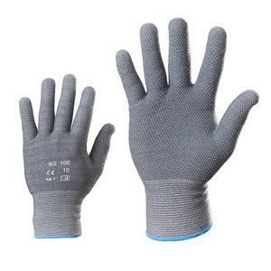 Pirštinės,  PVC taškeliai ant delno, medvilnė/spandeksas 7