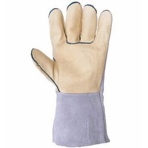 Pirštinės, oda, platus riešas, 33cm 11
