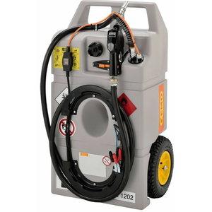 Mobile fuel tank system 100L, 12v el.pump, Cemo