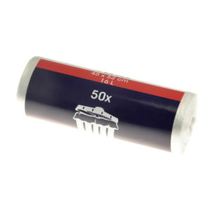 Atkritumu maiss 18L HDPE/caurspīdīgs, 45x52cm, 40ruļļix50gab