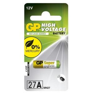 Patarei 27A/MN27, 12V, High Voltage Alkaline, 1 tk., GP