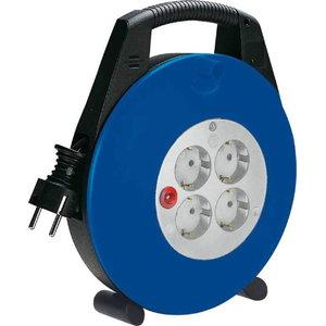 Kabelis ritėje VL-X, mėlynas/juodas 10m H05VV-F 3G1,5, Brennenstuhl