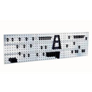 Панель рабочих инструментов - 3 перфорированных стенки и 44 крючка Super Clips, RAACO