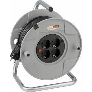 Extension Socket (cable reel) AK 260 25m 4VDE VV 3x1,5 BAT, Brennenstuhl