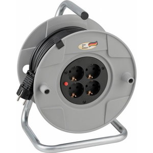 Extension Socket (cable reel) AK 260 50m 4VDE VV 3x1,5 BAT, Brennenstuhl