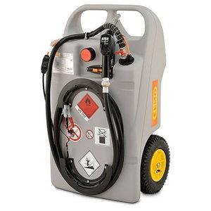 Mobiilne kütusemahuti ratastel, 100L, el-pump 12v Diisel, Cemo