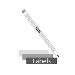 Label 12x26/104  12pcs bag white, Raaco