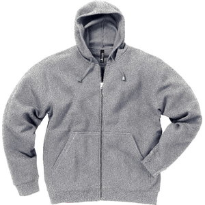 Sweater with hood and zip 1736 lightgrey 2XL, Acode
