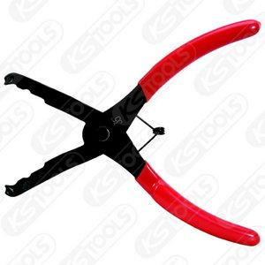 Trim clip pliers,35° offset, 190mm, KS Tools