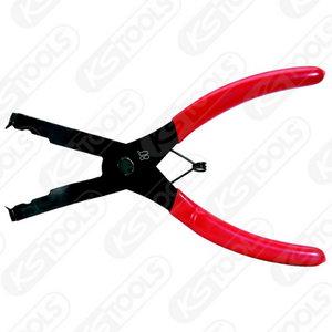 Suspaudžiamos replės, lenktos 80° , 200mm, KS Tools