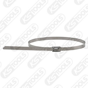 Stainless steel ball-lock cable ties, 4, 6x500mm, KS Tools