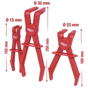 Hose clamp plier set 90° angled, 3pcs, Kstools