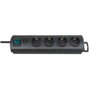 Primera-Line extension socket 4-way black 1,5m H05VV-F 3G1,5, Brennenstuhl